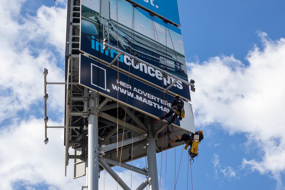 Billboard bestickering door professionals van Bilfinger bestickering van Mast Have adverteren